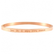 Thin quote bracelets Rose gold