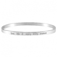 Thin quote bracelets Silver