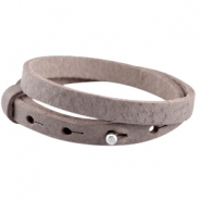 Double 8mm leather Cuoio bracelets for 12mm cabochon Soft terra brown
