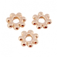 DQ metal bead spacer Bali Ring 5.6mm Rose gold (nickel free)