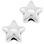 DQ metal star bead Antique silver (nickel free)