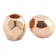 DQ metal faceted bead Rose gold (nickel free)