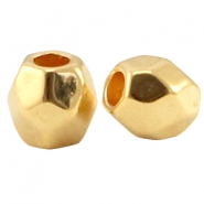 DQ metal faceted bead Gold (nickel free)