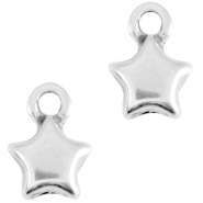 DQ metal star shaped charm Antique silver (nickel free)