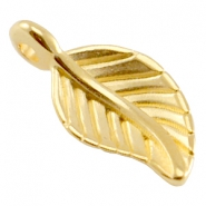 DQ metal leaf charm Gold (nickel free)