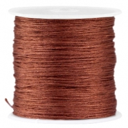 Macramé satin bead cord 0.8mm Brown
