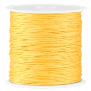 Macramé satin bead cord 0.8mm Sunburst yellow