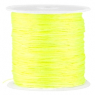 Macramé satin bead cord 0.8mm Neon Yellow