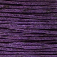 Waxed cord 1.0mm Purple