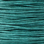 Waxed cord 1.0mm Dark emerald green