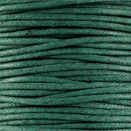 Waxed cord 1.5mm Dark emerald green