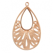 DQ metal drop shaped pendant Rose gold (nickel free)
