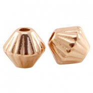 DQ metal cone shaped bead Rose gold (nickel free)