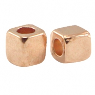 DQ metal square tube Rose gold (nickel free)