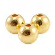 DQ metal bead 5mm Gold (nickel free)