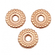 DQ metal deco bead disc 8mm Rose gold (nickel free)
