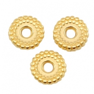 DQ metal deco bead disc 8mm Gold (nickel free)