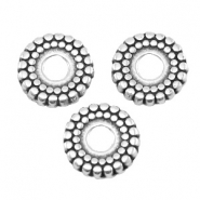 DQ metal deco bead disc 8mm Antique silver (nickel free)