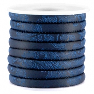 Trendy Baroque stitched cord 6x4mm Midnight blue