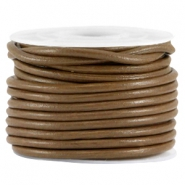 DQ round leather 2mm Brown