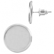 Metal earpins for 12mm cabochon Silber