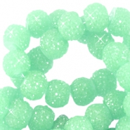 Sparkling beads 6mm Crysolite green