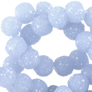 Sparkling beads 8mm Sapphire blue