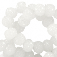 Sparkling beads 6mm White