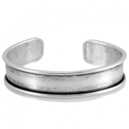DQ metal bracelet base (for 10mm cord/leather) Antique silver (nickel free)