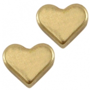 DQ metal heart shaped bead Antique bronze (nickel free)