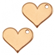 DQ metal charm heart Rose gold (nickel free)