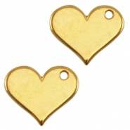 DQ metal charm heart Gold (nickel free)