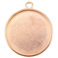 DQ metal setting with one loop for 35mm cabochon Rose gold