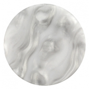 Flat Polaris cabochon Perseo 35mm matt White grey