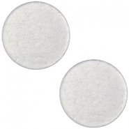 Flat soft tone Polaris cabochon 20mm matt Silver grey