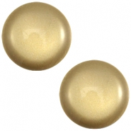 Soft tone Polaris cabochon 20mm shiny Khaki green