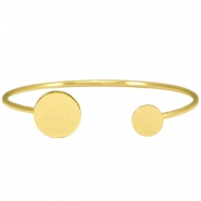 Metal bracelet (for 12, 15 and 20mm cabochons) Gold