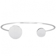Metal bracelet (for 12, 15 and 20mm cabochons) Silver