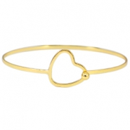 Metal bracelet with clasp heart Gold