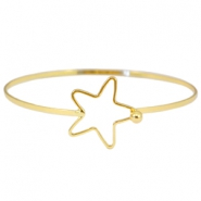 Metal bracelet with clasp star  Gold