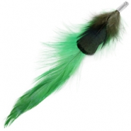 Duo feathers Classic green-dark green
