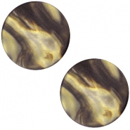 Polaris cabochon Perseo flat 20mm matt Black gold