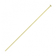 DQ metal headpins 50mm Antique bronze (nickel free)