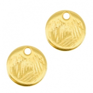 Round DQ metal charms 9mm Gold (nickel free)