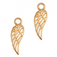 DQ metal charms angel wing Rose gold (nickel free)