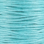 Waxed cord 2.0mm Light aquamarine blue