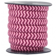 Dreamz cord 10mm Aubergine red-rose