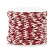 Trendy flat braided waxed cord 7mm Port red