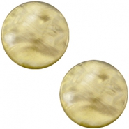 Pearly 20mm flat Polaris Elements cabochon Light olive green
