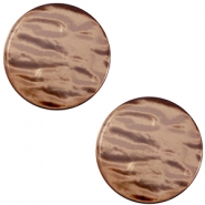 Pearly 7mm flat Polaris Elements cabochon Soft major brown